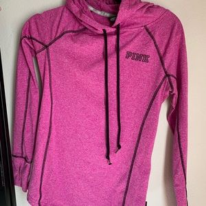 PINK long sleeve workout pullover